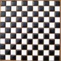 昔からのタイル 25mm角 白×黒 市松貼り