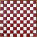 昔からのタイル 25ミリ角 白×マロン 市松貼り