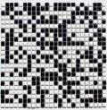 10ミリ角タイル 白色×黒色 ミックス貼り