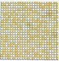 10ミリ角タイル 黄×薄黄×白 ミックス貼り
