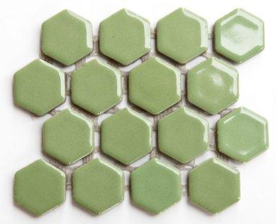 画像1: ヘキサゴン(六角)モザイク 605C