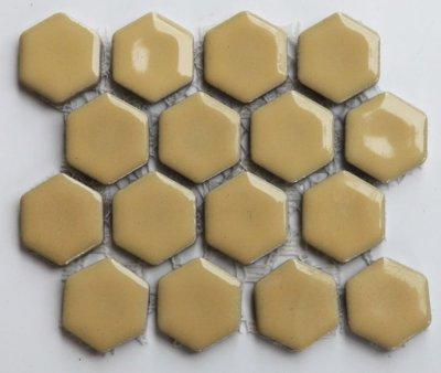 画像1: ヘキサゴン(六角)モザイク 600C