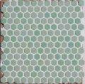 ヘキサゴン(六角)モザイク 650 白緑(ひゃくろく)