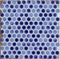 ヘキサゴン(六角)モザイク 660 瑠璃(るり色)