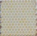 ヘキサゴン(六角)モザイク 625 薄黄