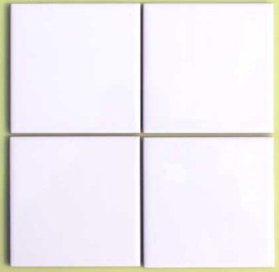 画像1: 150角 陶器質 内装壁 白色ブライト P15/105 バラ