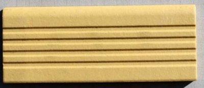 画像1: 6号階段タイル 黄土色 Y-4S