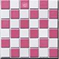 ハイカラー 23ミリ角 市松模様 白×ピンク お手軽タイプ