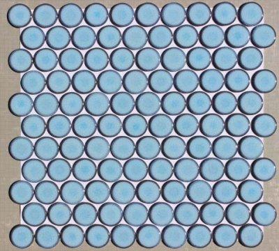 画像1: 27ミリ丸モザイク 窯変水色 AS-1