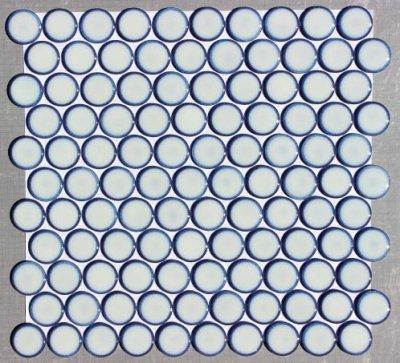 画像1: 27ミリ丸モザイク 窯変白色 AS-2