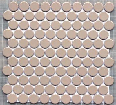 画像1: 27ミリ丸モザイク BK-A04 ベジュー