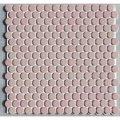 19ミリ丸 モザイク サーモンピンク54