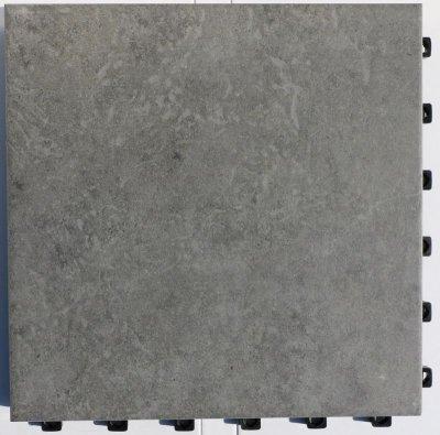 画像2: デッキ付きジョイントタイル 300角シェベル グレー PO-3006