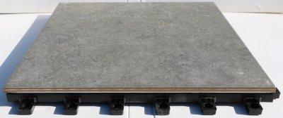 画像3: デッキ付きジョイントタイル 300角シェベル グレー PO-3006