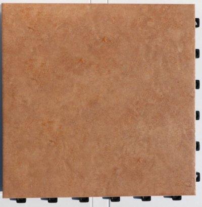 画像2: デッキ付きジョイントタイル 300角シェベル ブラウン PO-3003