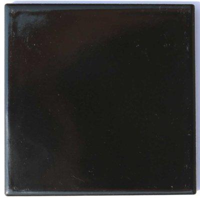 画像1: 150角B-2 磁器質 内外装壁 黒色ブライト