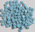 画像1: 10ミリクローバータイル バラ石 パステル水色 11B (1)