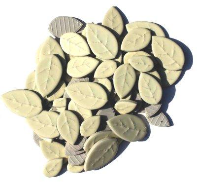 画像1: タイル クラフトリーフ 薄黄色 500g バラ石 F600A