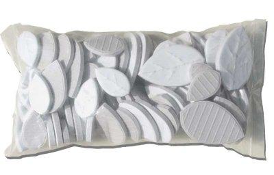 画像2: タイル クラフトリーフ 白色 500g バラ石 F610B
