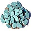 画像1: タイル クラフトリーフ 水浅葱色 500g バラ石 F606A (1)