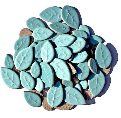 画像1: タイル クラフトリーフ 水浅葱色 500g バラ石 F606A