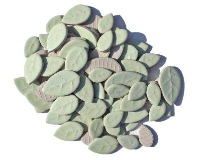 画像1: タイル クラフトリーフ 若竹色 500g バラ石 F605A